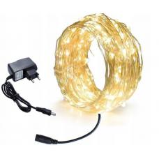 Светодиодная гирлянда-нить LTL 18 м 200led Золотистый (200lw220v)
