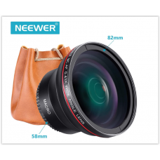 Широкоугольный объектив (макросъемка) Neewer 58MM 0.43x Professional HD  для Canon EOS Rebel