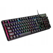 Клавиатура с подсветкой MHZ KR 6300 USB проводная Черный (006912)