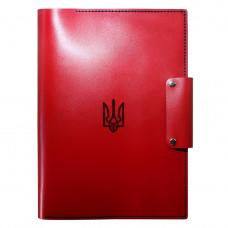 Женская кожаная папка для документов Anchor Stuff Герб Украины А4 Красная (as150104-1)