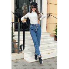 Стильные женские джинсы мом 44,46,48 синие