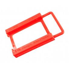 Переходник для SSD НDD 2.5 на 3.5 Красный (PR25)