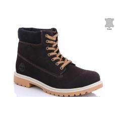 Ботинки зимние мужские  MD 8801-8 натуральная кожа