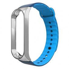 Ремешок Armorstandart Sport Silicone Band для Xiaomi Mi Band 3 Silver/Blue (ARM54515)