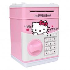 Электронный сейф-копилка с кодовым замком Hello Kitty Бело-розовый (101042)
