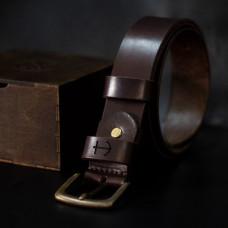 Мужской кожаный ремень Anchor Stuff OldSalt Belt 125 см Коричневый (as200102)