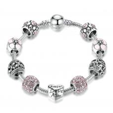 Женский браслет Fench Silver Plated Love 38 Cеребристый (AJ_PS387021)