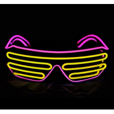 Очки светодиодные El Neon неоновые spiral purple yellow (902896852)