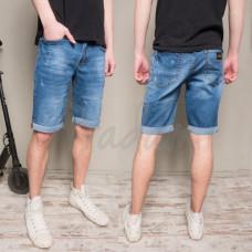Шорты джинсовые мужские синие коттоновые 9917-3 R Relucky   размер 29-38 (Н)