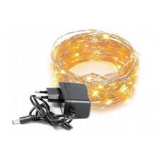 Светодиодная гирлянда Капля Росы 100led 10 метров 8 режимов свечения 22V Теплый золотистый (hub_fHwZ23951)