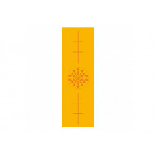Коврик для йоги Bodhi Leela янтра 183 x 60 x 0.4 см Желтый (000000272)