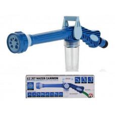 Насадка на шланг распылитель воды с отсеком для моющих средств Ez Jet Water Cannon Бело-синий (n-564)