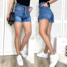 Шорты джинсовые женские с царапками синие коттоновые  3703 New Jeans размер 25-30 (Н)