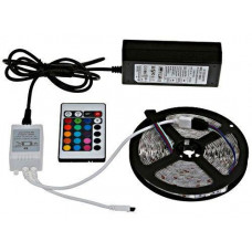 Светодиодная лента в комплекте блок питания и пульт SMD 5050 RGB (003357)