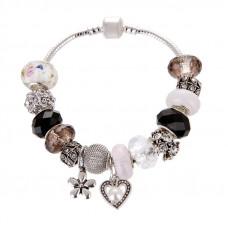 Женский браслет Jewel Antique Silver Plated Heart Multy Cеребристый (AJ_brJJwih)