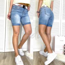 Шорты джинсовые с царапками New jeans 3721 размеры 25-30