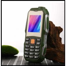 Защищенный Мобильный телефон F88 зелёный  Аккумулятор 3800mA! Водоустойчив, удароустойчивый