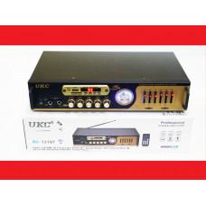 Усилитель звука UKC AV-121BT USB + КАРАОКЕ 2микрофона
