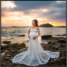 Платье-пеньюар из кружева для фотосессии, на романтический вечер 2 цвета код 301