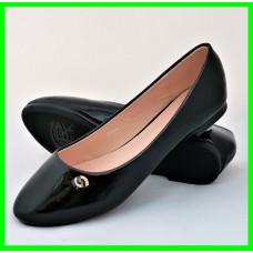 Женские Балетки Чёрные Мокасины Туфли (размеры: 36,40)