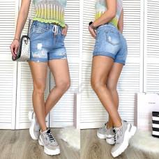 Шорты джинсовые с рванкой New jeans 3712 размеры 25-30
