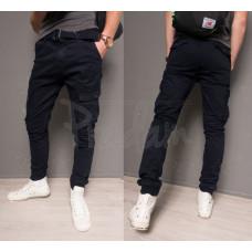 Мужские брюки-джоггеры M. SARA 2752-СИНИЙ Р. 30-42