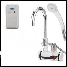 Проточный водонагреватель кран с душем  с пультом RX-001