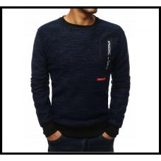 Мужской свитер на резинке m-xxl, синий