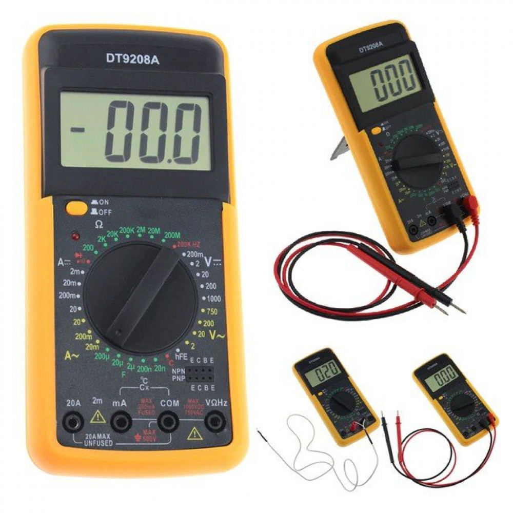 Цифровой мультиметр DT-9208A с термопарой