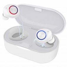 Беспроводные наушники Bluetooth 5.0 с чехлом для зарядки, Mini HD  сенсорное управление водонепроницаемые белые