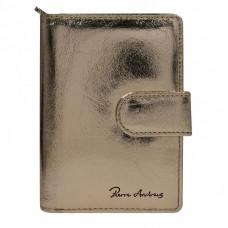 Кожаный кошелек Pierre Andres N509-METALLIC золотой
