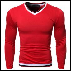Свитшот мужской молодежный M, L, XL, XXL красный код 45
