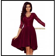 Праздничное платье с гепюровым верхом Numoco Nicolle оригинал, бордо