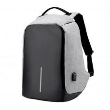 Рюкзак Travel Bag 9009 антивор с USB Черно-серый (100124)