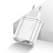 Зарядное KUULAA Quick Charger 3.0 Type-C+USB 36W EU white