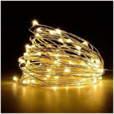 Гирлянда светодиодная Lighteer Technology Limited 10 м 100 led на батарейках Gold (000000335)