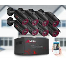 Комплект видеонаблюдения Anran 8ch AHD 2MP
