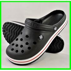 Мужские Тапочки Чёрные Кроксы Шлёпки (размеры: 41,42,43,44,45,46)