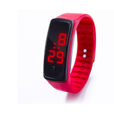 Наручные LED 555 часы браслет красный