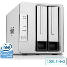 Процессор  четырехъядерный  Intel TerraMaster F2-422 10GbE NAS  с 2 отсеками  с аппаратным шифрованием