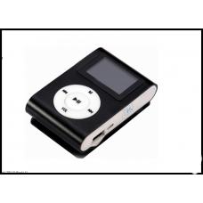 MP3 мини плеер MX-801FM  мини с экраном С памятью16GB прищепкой черный