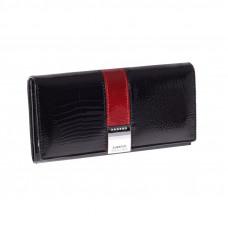 Женский кошелек Lorenti  из натуральной кожи лак (черный) Италия код 331