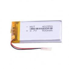 Аккумулятор Li-Ion 402550, 500mAh, 3.7V