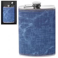 Фляга сувенирная HLV R86709 260 мл Blue (111414)
