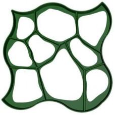 Форма для садовой дорожки Круглые камни 80х80х6см пластиковый трафарет (1003)