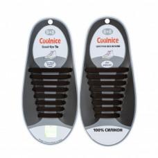 Силиконовые шнурки Coolnice В01 Коричневые (nri-834)