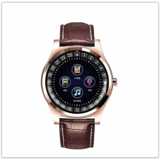 Умные смарт часы  с bluetooth Lemfo R69  кожаный браслет СИМ+Карта памяти