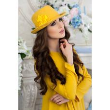 Шляпа-федора «Элисса» (желтый) Braxton