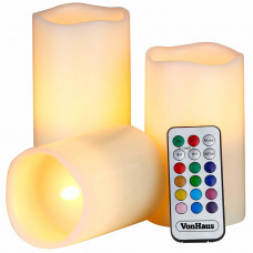 Светодиодные свечи Luma Candles с пультом Белые (8019)