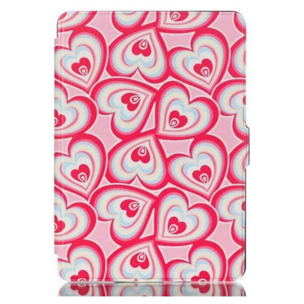 Leather Case for Amazon Kindle Paperwhite Hearts